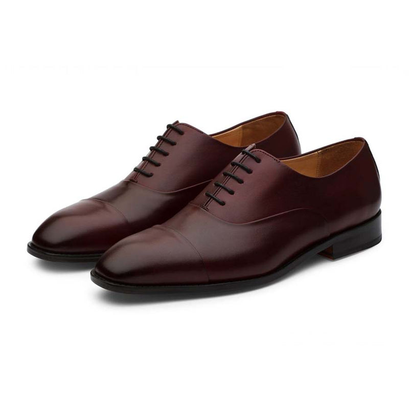 Wine Captoe Oxfords