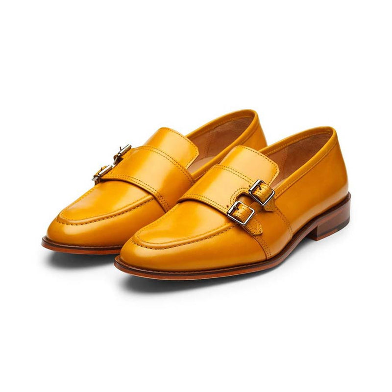 Yellow Double Buckle Monk Slipon