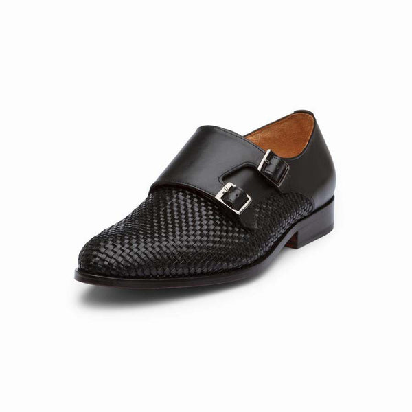 Black Braided Double Monk Straps