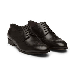 Black Brogue Derbies