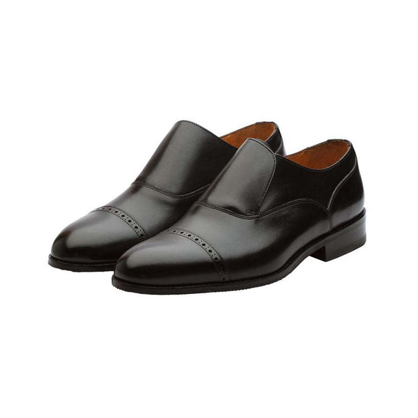 Black Captoe Oxford Slipons