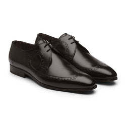 Black Decorated Derby Wingtips