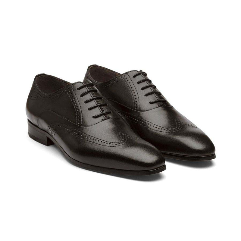 Black Decorated Wingtips