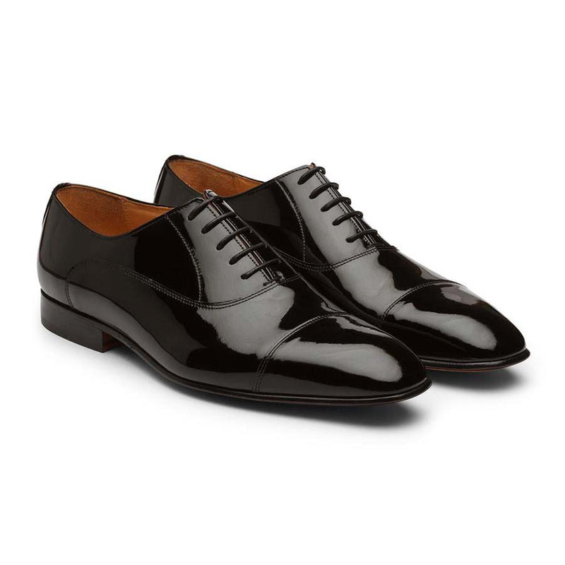Black Patent Captoe Oxfords