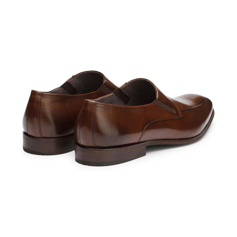 Brown Elasticated Slipons