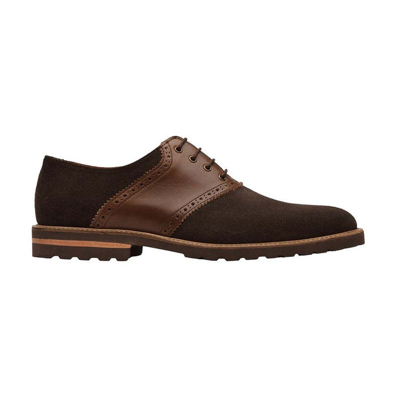 Brown Suede Lightweight Combination Saddle Oxfords