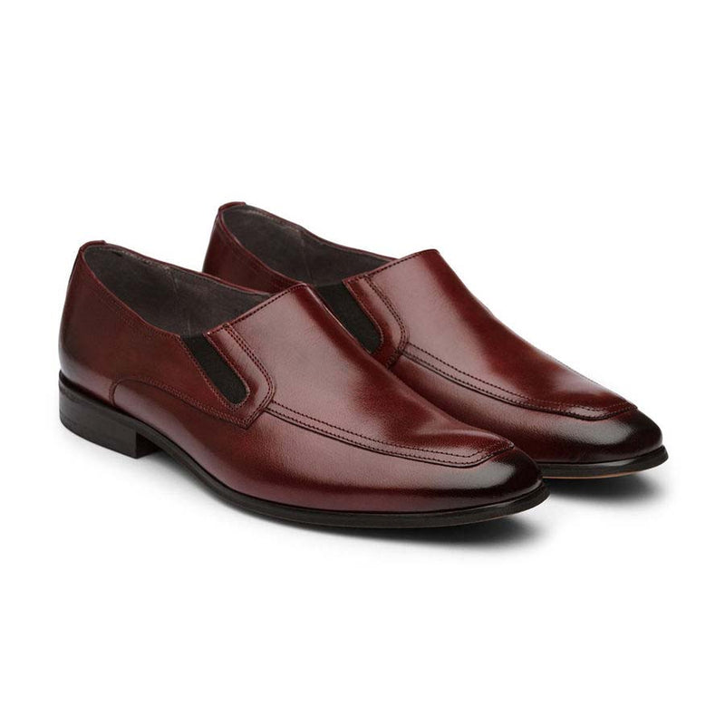 Burgundy Elasticated Slipons
