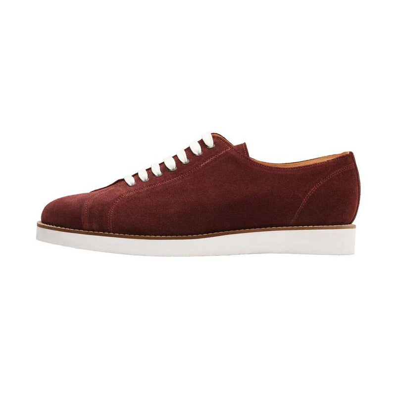 Burgundy Suede Classic Sneakers