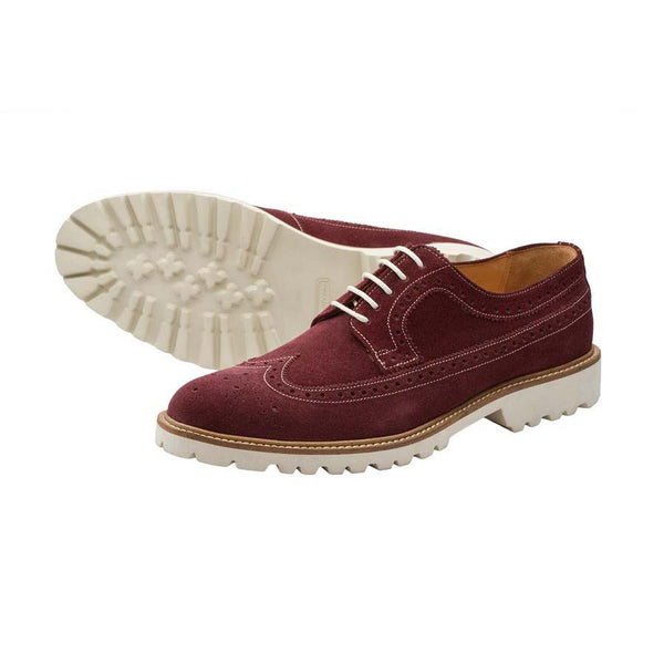 Burgundy Suede Lightweight Casual Derby