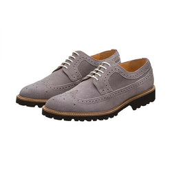 Grey Suede Lightweight Casual Derby