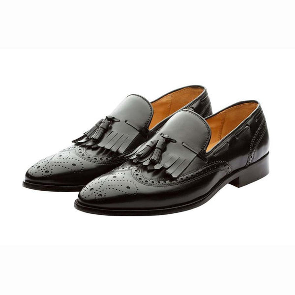 Black Kiltie Tassel Loafer