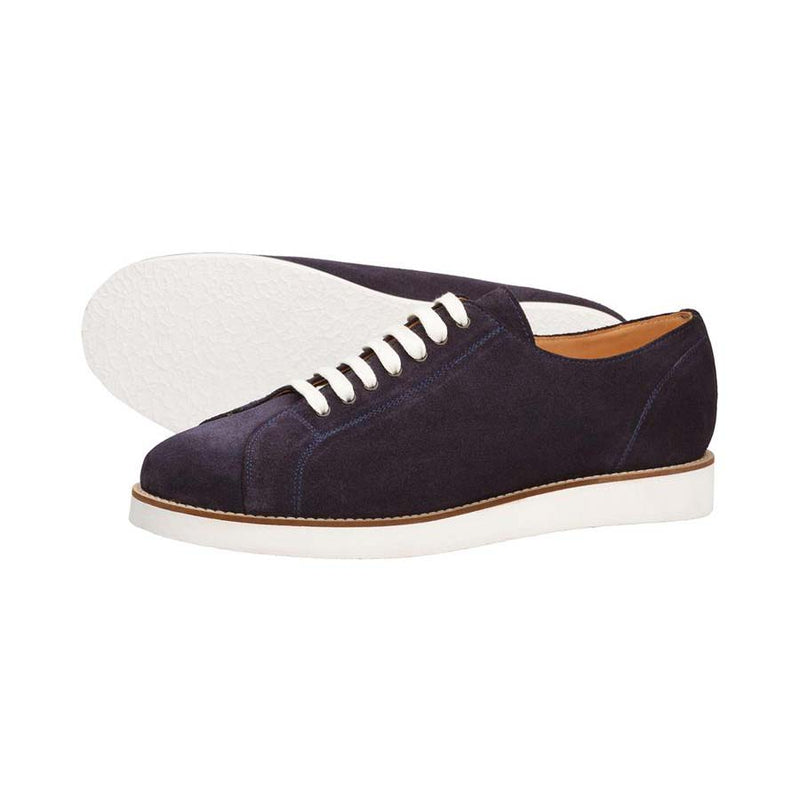 Navy Suede Classic Sneakers