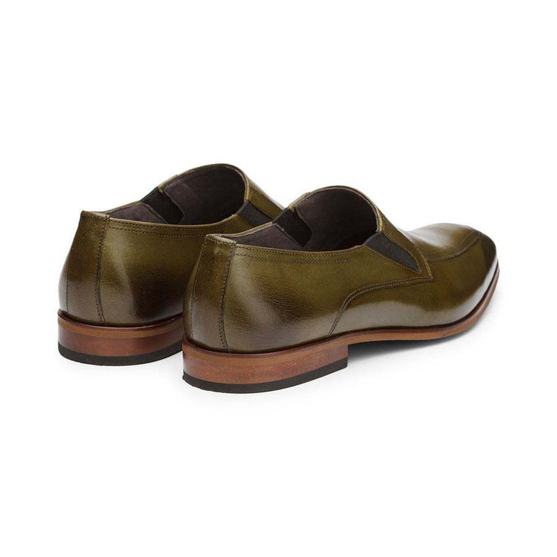 Olive Elasticated Slipons