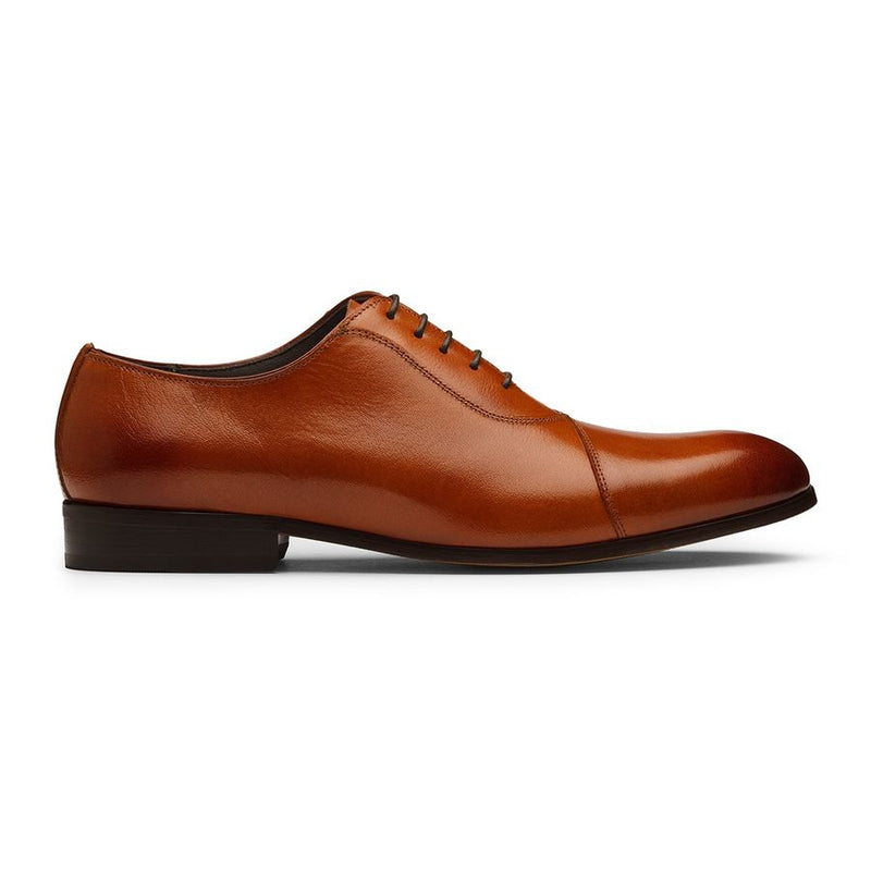 Tan Assymetrical Oxfords