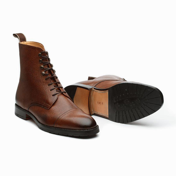Tan Grain Captoe Boots
