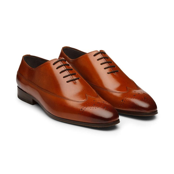 Tan Longwing Oxfords