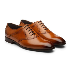 Tan Saddle Oxfords