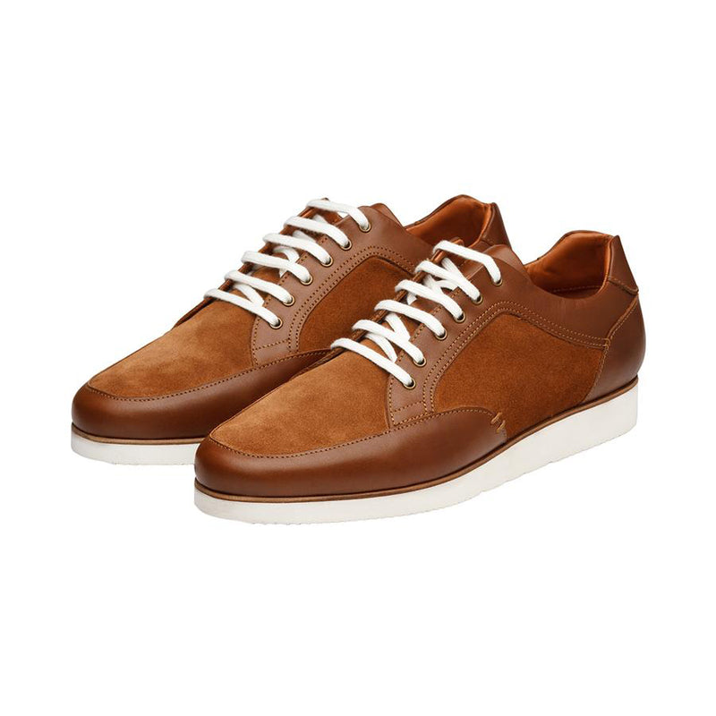 Tan Suede Combination Suede Sneakers