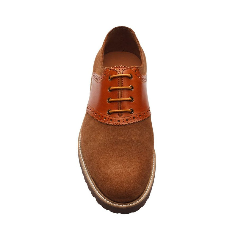Tan Suede Lightweight Combination Saddle Oxfords
