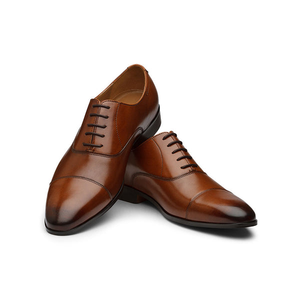Brown Modern Sleek Captoe