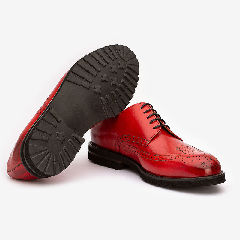 Red Derby with Chunky sole