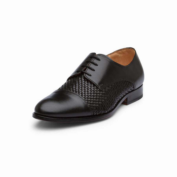 Black Braided Toecap Derbies