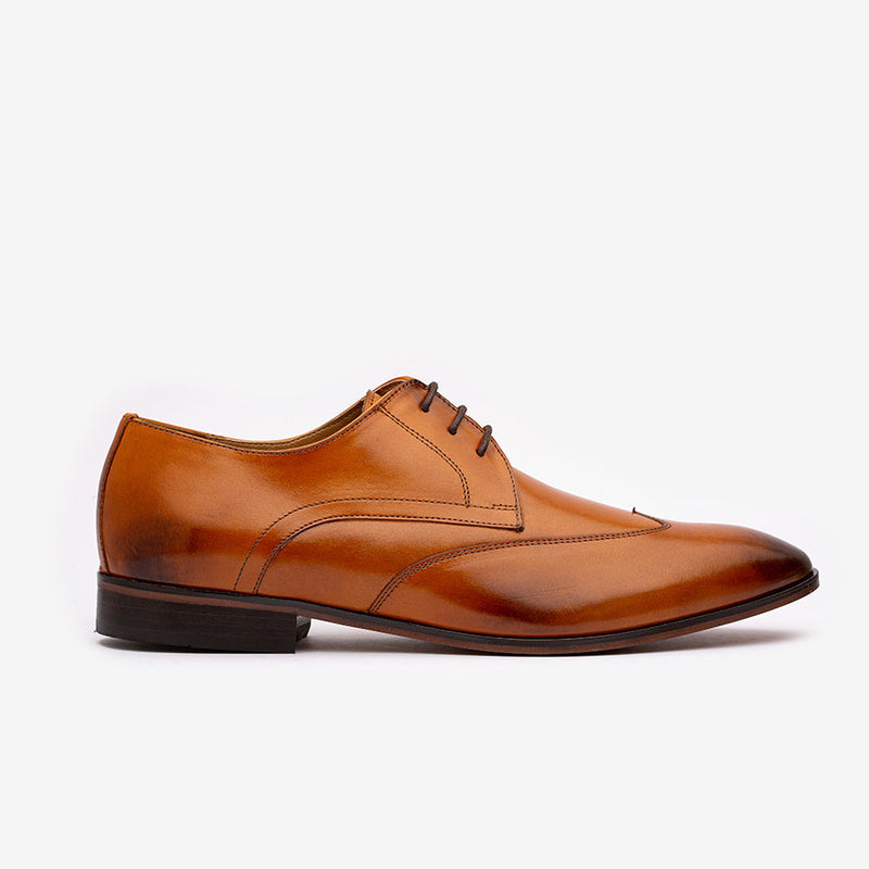 Tan Wingtip Derby