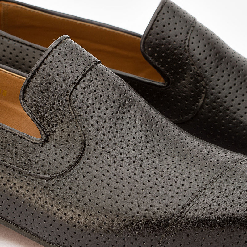 Black Perforated Loafer