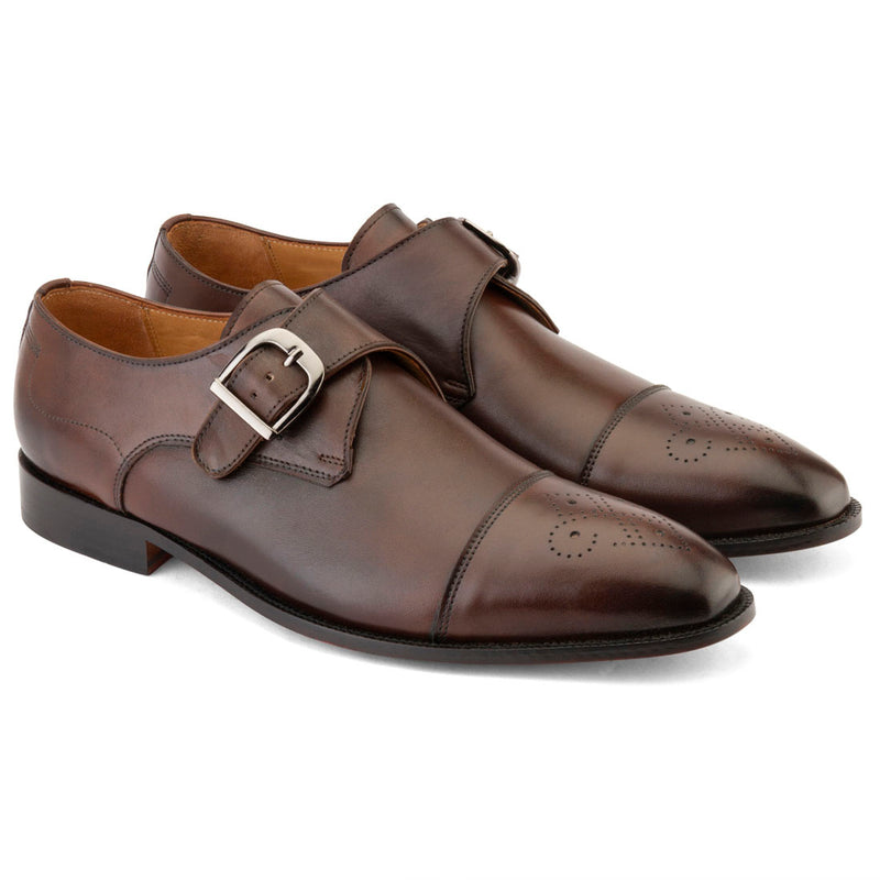 Dark Brown Single Monkstrap with Captoe