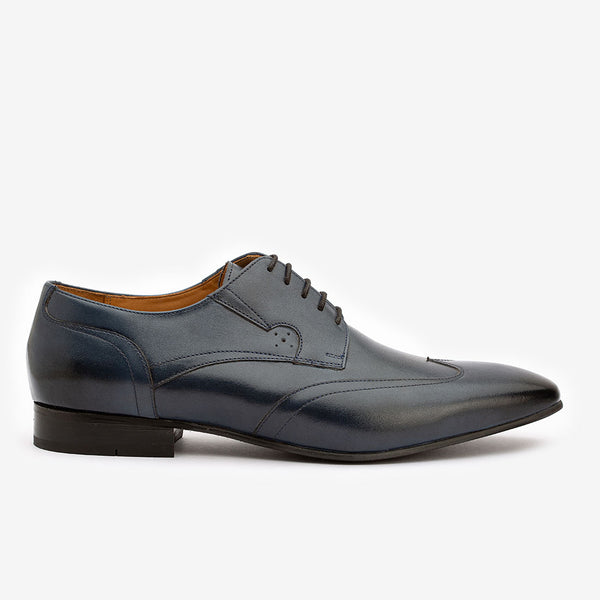 Navy Blue Multi Wingtip Derby
