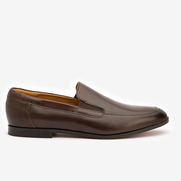 Brown Elasticated Loafers