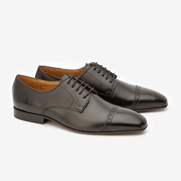 Black Square Toe Derby