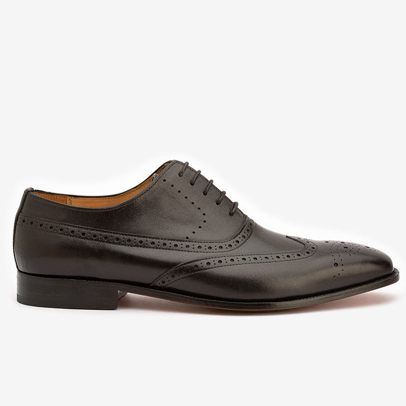 Black Longwing Derby WIngtips