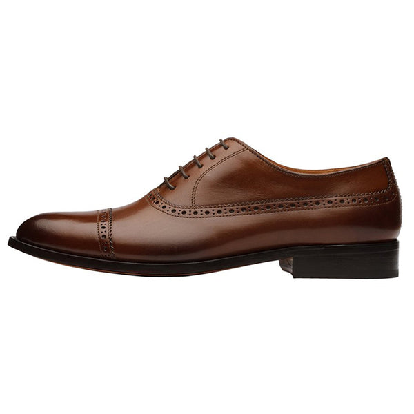 Brown Longwing Toecap Oxford
