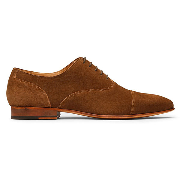 Camel Suede Toecap Oxfords
