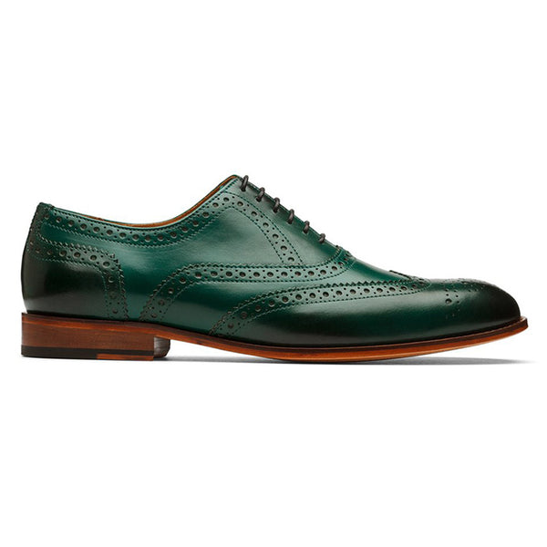 Green Full Brogue Oxford