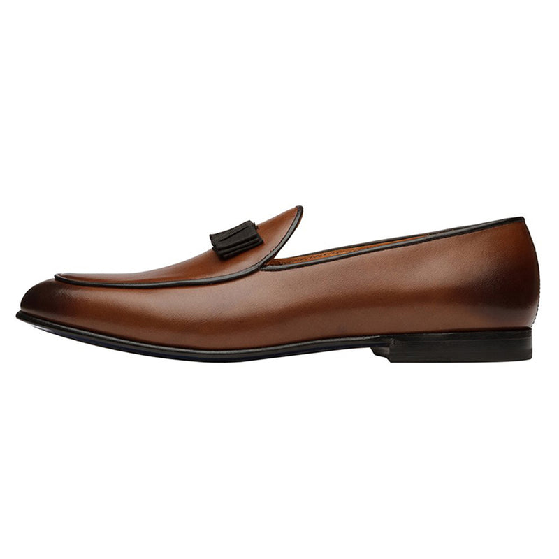Tan Bowtie Belgian Loafers