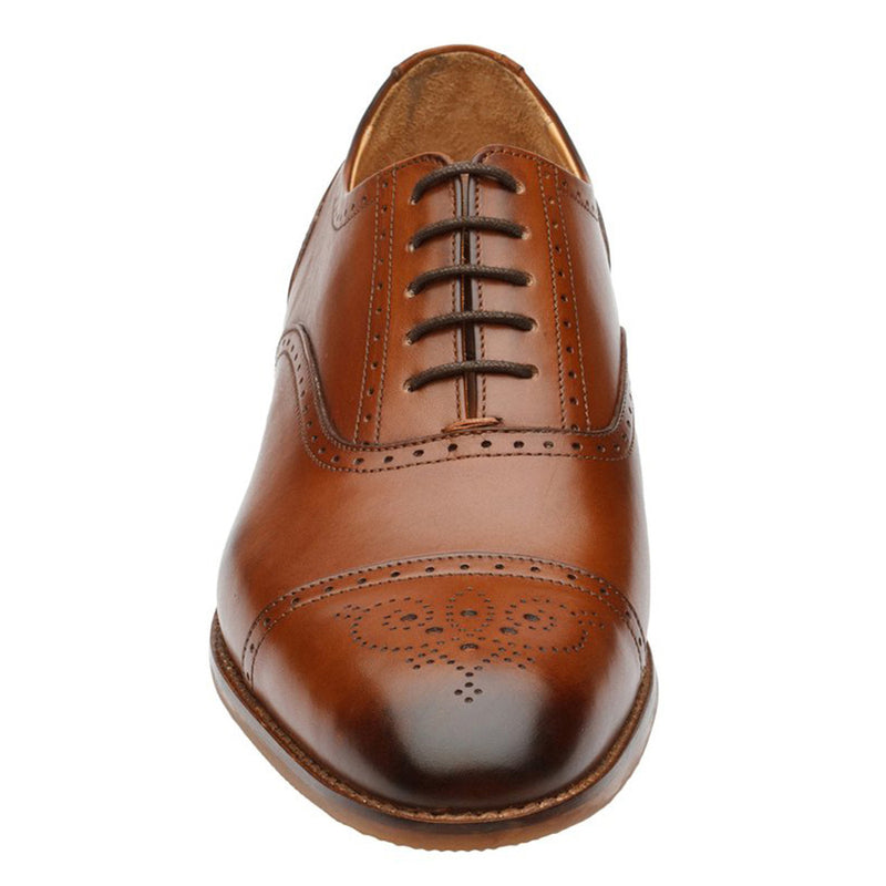 Tan Medallion Captoe Full Brogue Oxford