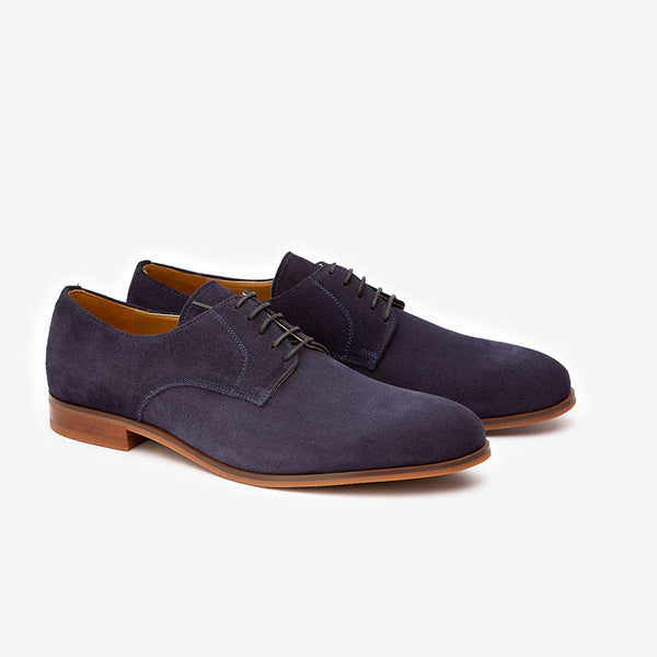 Navy Suede Classic Derby