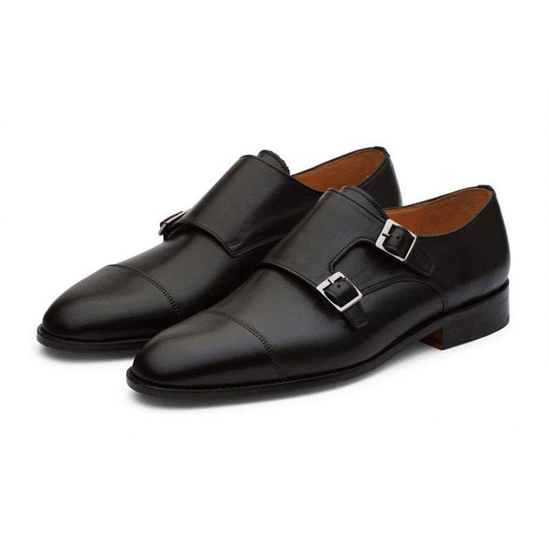 Black Monk Straps with Captoe