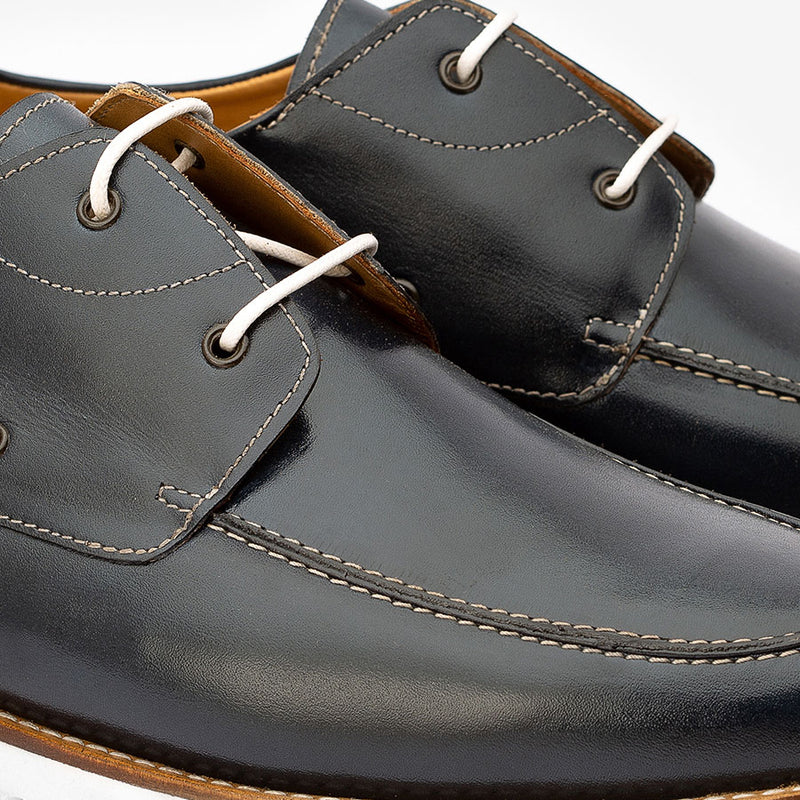 Black Boat shoe with a Chunky Sole