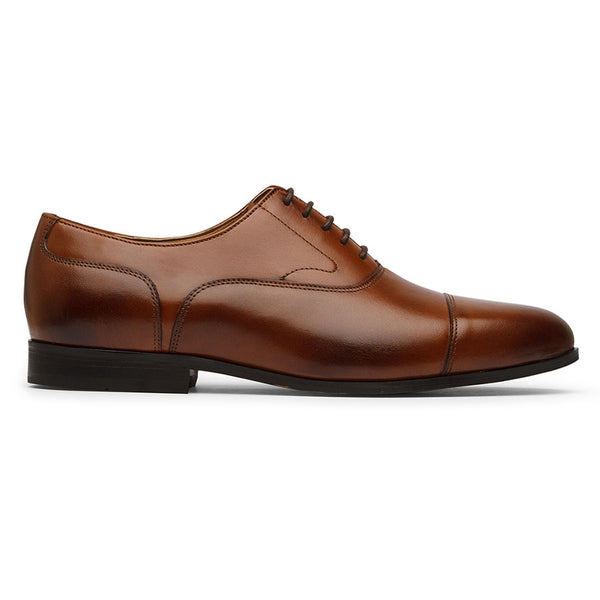 Brown Stitch Captoe Oxfords