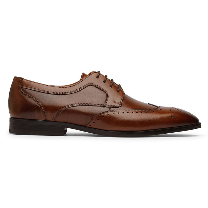 Brown Decorated Wingtip Derby
