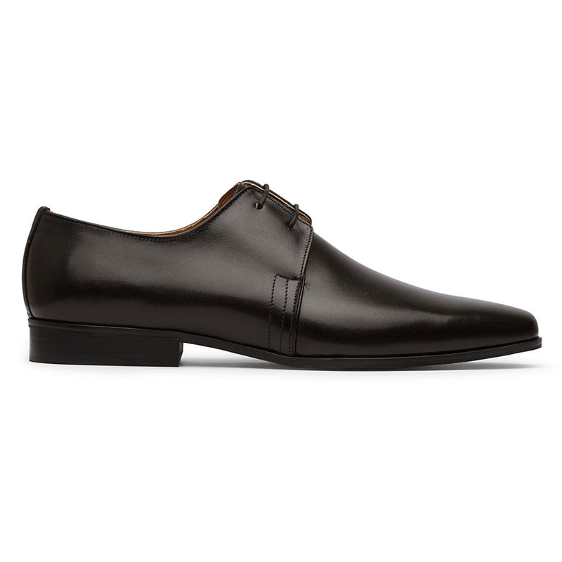Black Two Eyelet Derby