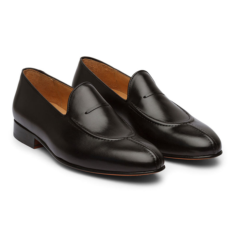 Black Cordstitch Loafers