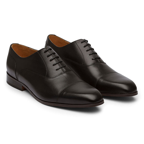 Black Captoe Stitch Oxfords