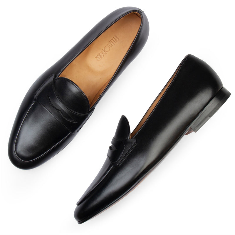 Black Penny Belgian Loafers