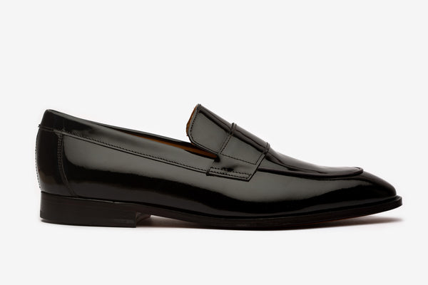 Black Patent Strap Loafers