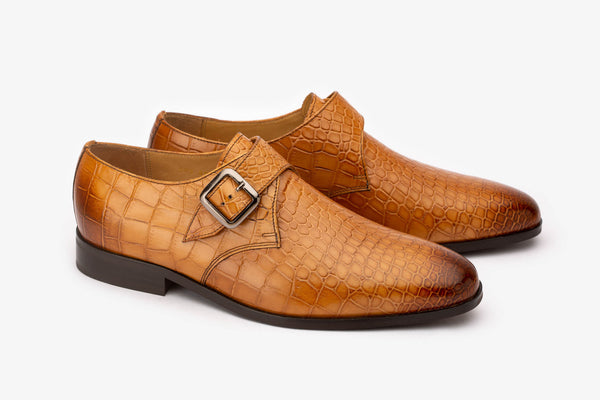 Tan Crocodile Single Monks