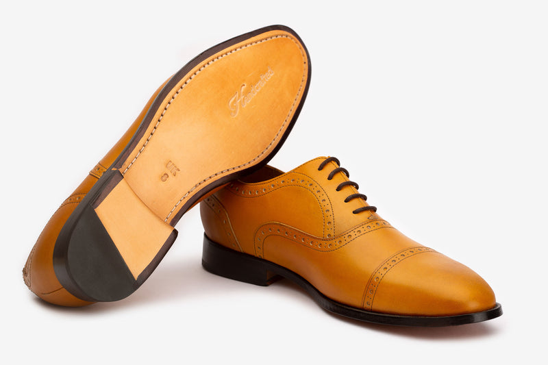 Yellow Captoe Oxfords